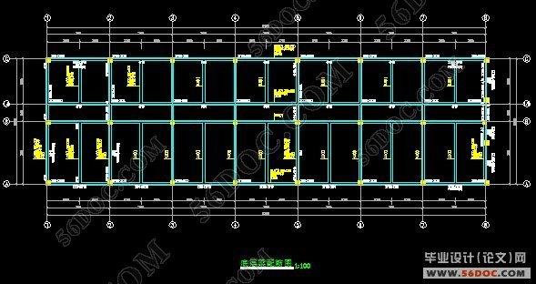 四层框架结构食品公司办公楼设计
